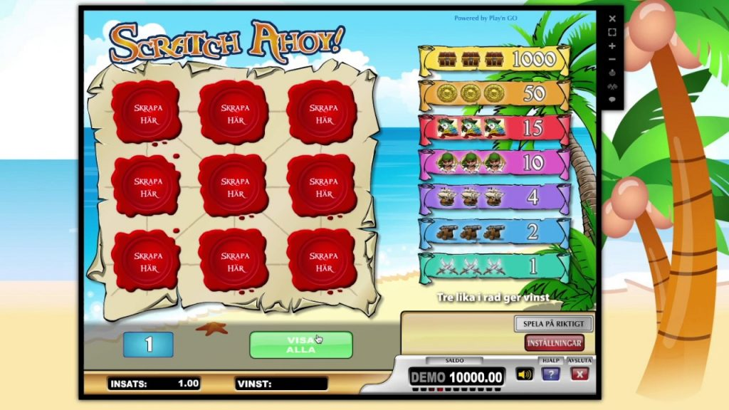 det är kul att skrapa lotter på nätet